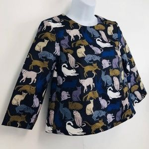 H&M Funky Cat blouse
